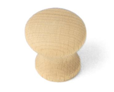 Mushroom Knob, Au Natural Wood Collection - Laurey