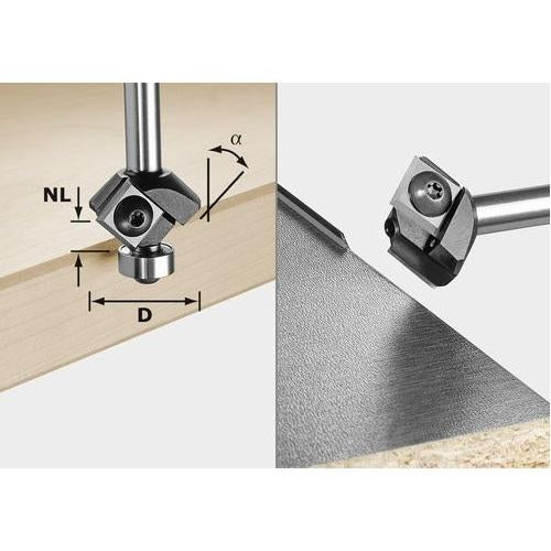 499807 Edge Trimming 45° Router Bit 8mm Shank - Festool