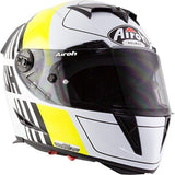 Airoh GP500 Full Face Motorcycle Helmet Black White Green ACU Approved