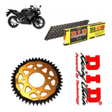 Honda CBR125 R Chain and Sprocket Kit : DID Chain & Gold Sprocket 2011-16