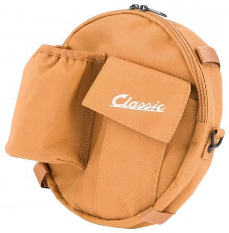 Classic Vespa Spare Wheel Storage Bag Tool Case Tan