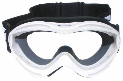 Bike It WSGG Kids Racing MX Off-Road Goggles White Scratch Resistant