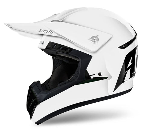 Airoh Switch Helmet Gloss White/Black DD-Ring Fastening ACU Approved