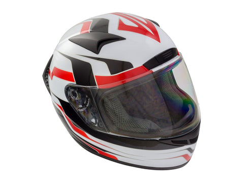 GSB G-335 Full Face Road Motorcycle Helmet Red Graphic White Black