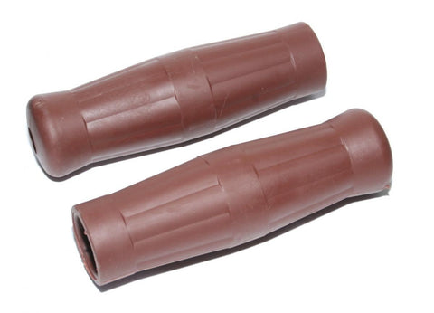 Vintage Cafe Racer Style Coke Bouteille Style Handlebar Grips Brown