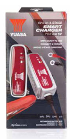 Yuasa Battery Charger YCX0.8 6V 0.8A 4-Stage