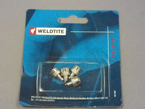 Weldtite Valve Caps 05004 Key Type-Metal [Pk 4]