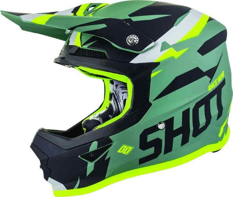 SHOT 2019 Score Khaki Neon Yellow Matt Motocross Helmet