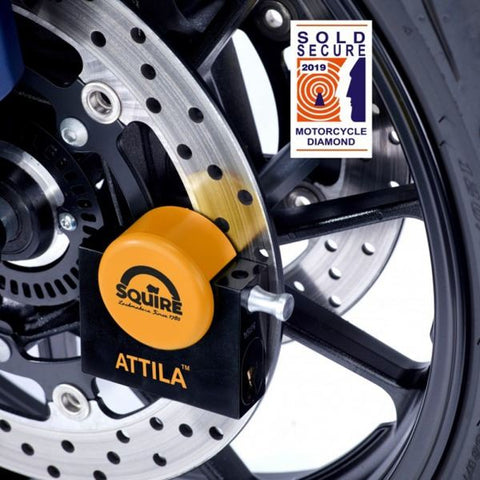 Squire Attilia Motorcycle Disc Lock Long Pin Version