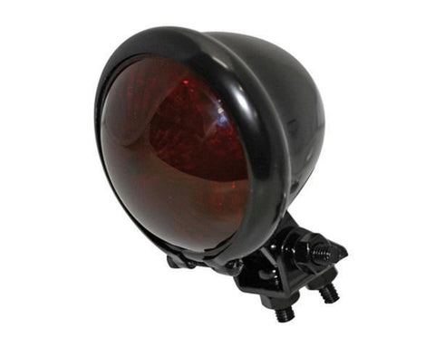 Bates LED Tail Light: Black with Red Lens