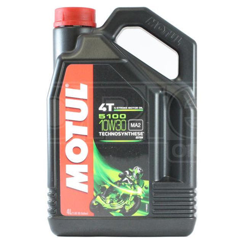 Motul 10W30 Semi Syntheti 5100 Oil 4 Ltr