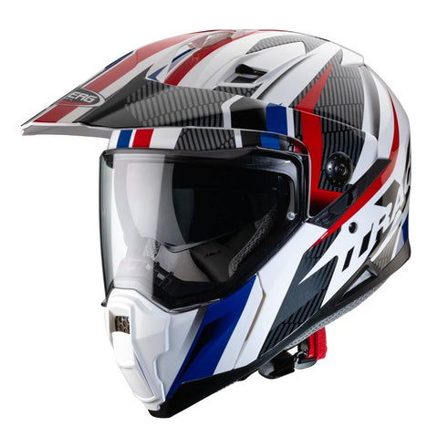 Caberg X-Trace Savana /// Dual Sport Helmet White/Black/Blue/Red