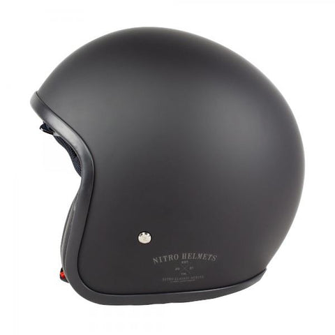 Helmet Nitro X580/X581 Motorcycle Scooter Open Face Helmet Satin Black