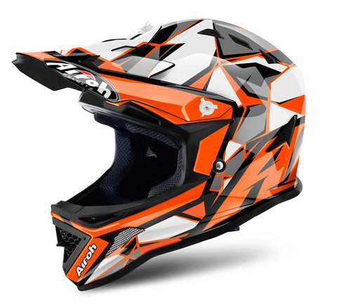 Airoh Archer Junior Chief Helmet Gloss Orange/Black ACU Approved