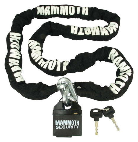 Heavy Duty Mammoth Motorcycle Security Chain and Padlock 1.8m x 10mm