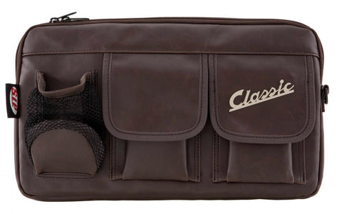 Classic Vespa Glove Box Storage Bag Leather Effect Universal Fit