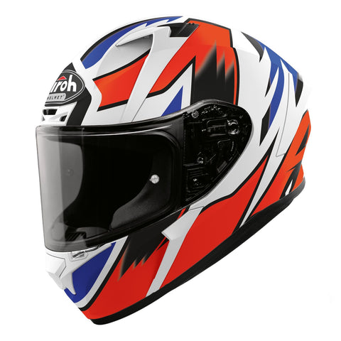 Airoh Valor Full Face Helmet Zanetti Replica Matt Blue White Red ACU Approved
