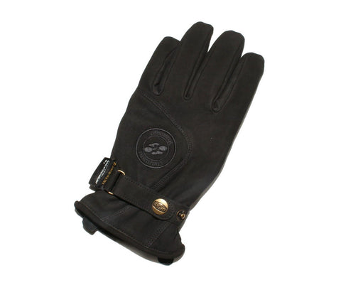Garibaldi Leather Urbe Motorcycle Gloves Black High Quality Retro Style