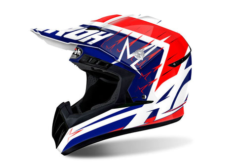Airoh Switch Startruck Helmet Gloss Red DD-Ring Fastening ACU Approved