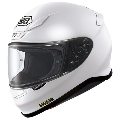 Shoei NXR Plain Motorcycle Helmet White