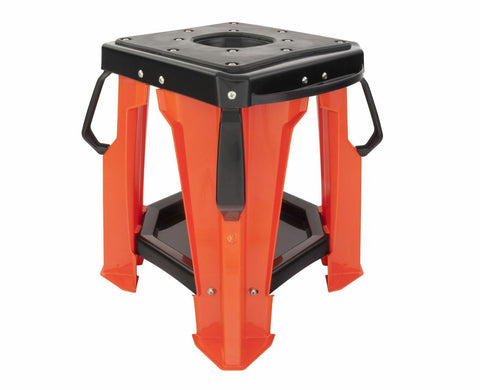 Biketek Pro MX Lightweight Ridge Stand: Orange