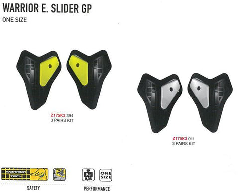 Spidi GB Safety Lab Kit Warrior Elbow Sliders [Z175K Single] Blk/Sil