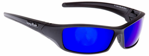 Ugly Fish Sunglasses Matt Black with Blue Lens Sports Shades Eyewear RS5228