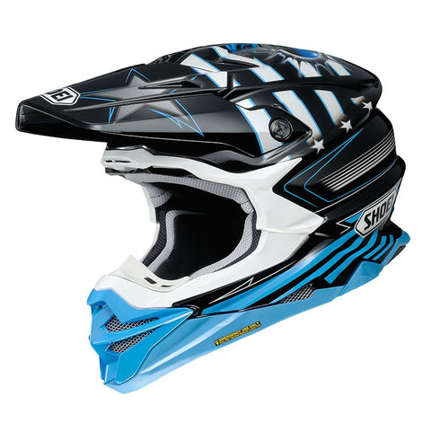 Shoei VFX-WR Grant3 TC2 Motocross & ATV Helmet Grey/Blue