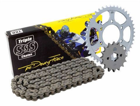 Triple S 520 O-Ring Chain und Sprocket Kit Black Ducati Monster 800 LE 2003-04