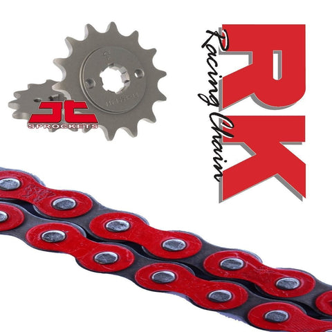 Honda CBF125 RK Racing Chain and Sprocket Kit : RED