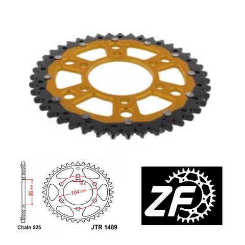 Kawasaki Z1000 ZX-10R Gold Rear Sprocket ZF 1489-43