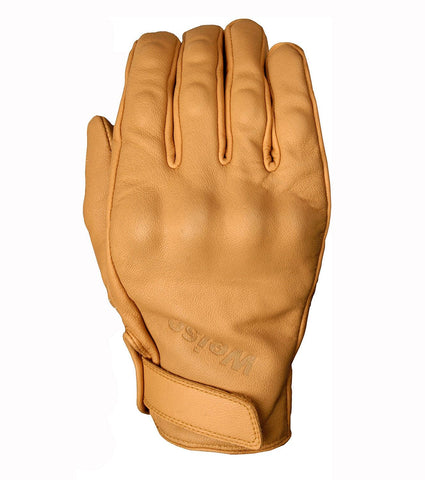 Weise Victory Classic Motorcycle Glove Retro Style Tan Armoured