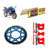 Yamaha YZF-R125 Chain and Sprocket Kit Gold DID Blue ZF Rear Sprocket