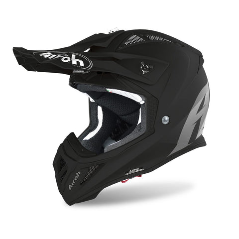 Airoh Aviator Ace Motocross & ATV Helm Matt Schwarz