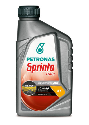 Petronas Sprinta F500 10W-40 Semi Synthetic Motorcycle Oil 1 Litre