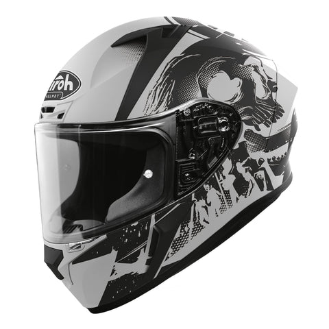 Casque de moto Airoh Valor 2020: Akuna Matt Grey Black ACU Gold Approved