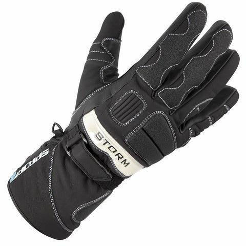 Spada Storm Waterproof Leather Gloves: Black