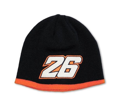 Bike It Dani Pedrosa 26 Beanie Hat Black Orange One Size