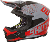 Shot Furious Spectre Full Face Motocross Helmet Grey Red ACU Approved