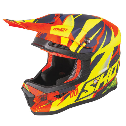 Shot Furious 2020 MX Helmet Kids Ventury Neon Orange Gloss ACU Approved