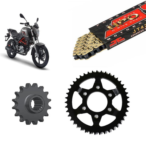KSR-Moto GRS125 Chain and Sprocket Kit JT Gold O-Ring 2015-2019