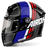 Airoh GP500 Full Face Motorcycle Helmet Black Blue Red ACU Approved