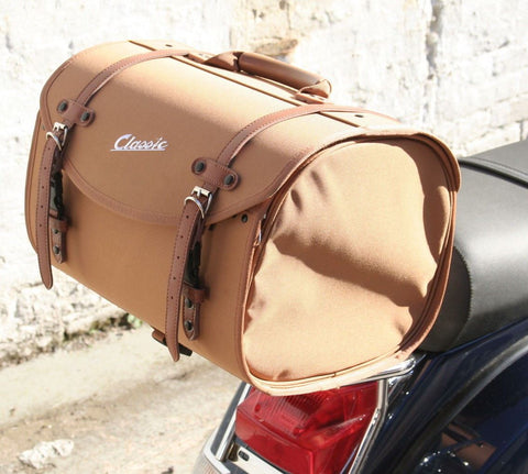Classic Vespa & Lambretta Soft Storage Bag: Tan