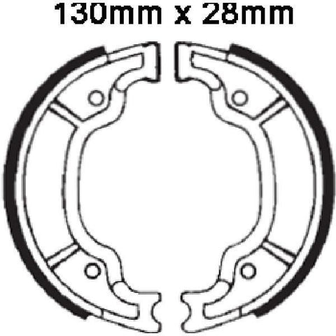 DELTA BRAKE SHOES DS135 Y527 VB239