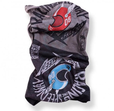 Holy Freedom Cafe Racer Motorcycle Neck Tube Bandana Poker
