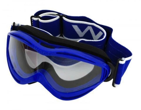 Bike It WSGG Kids Racing MX Off-Road Goggles Blue Scratch Resistant