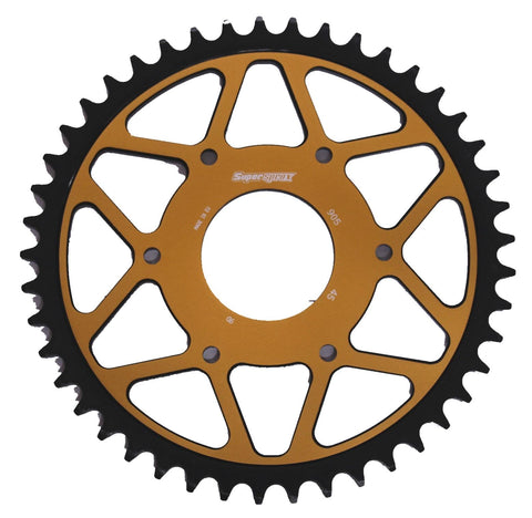 KTM Duke 125 390 Supersprox Edge Rear Sprocket 890-45 Gold Black