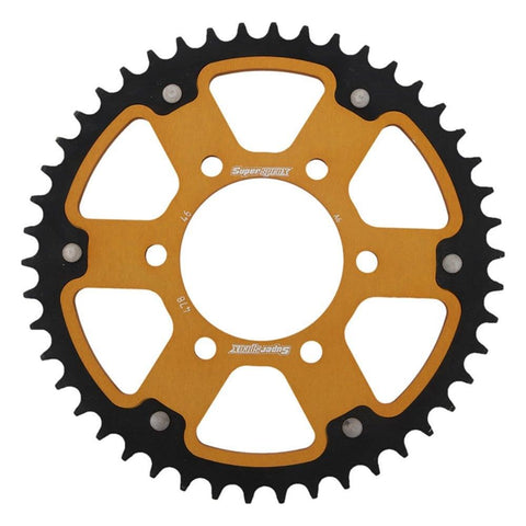 Supersprox Gold Stealth Rear Sprocket Kawasaki ER6 Z650