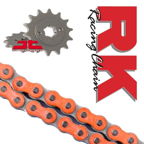 KTM SX65 Chain and Sprocket Kit Orange RK Racing 2014-17