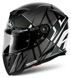 Airoh GP500 Full Face Motorcycle Helmet Black White Grey ACU Approved